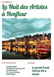 Paris Art Web - Events - Honfleur - Emerging Talents & La Nuit des Artistes - 8-8-2015