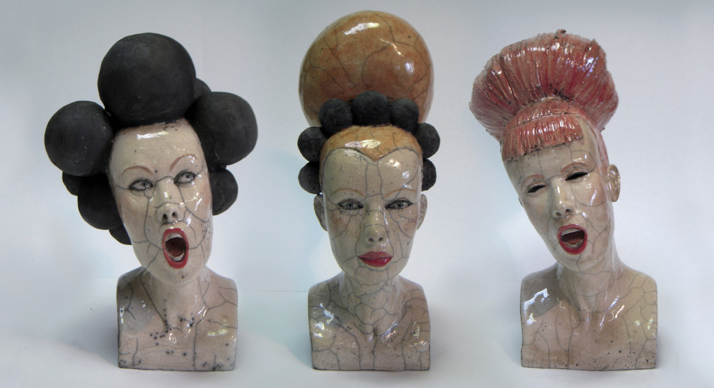 Mlanie Bourget  Contemporary Ceramic Sculptures - Hairstyles For 2015